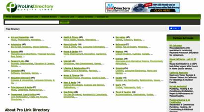 prolinkdirectory.com - free directory, your seo help - prolinkdirectory