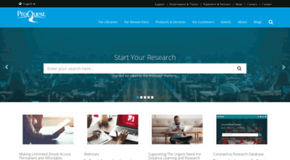 proquest.com - proquest  databases, ebooks and technology for research