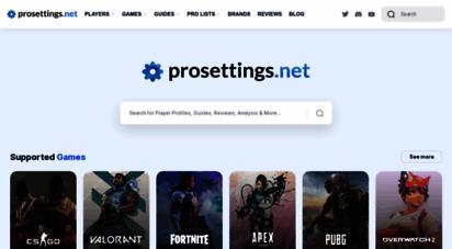 prosettings.net -