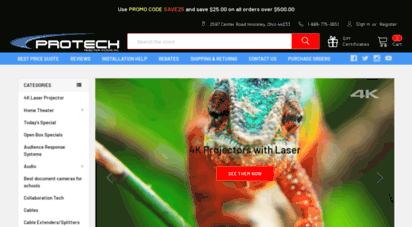 protechprojection.com - protech projection systems, inc