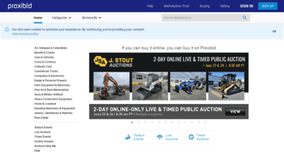 proxibid.com - online live & timed auctions: connecting buyers with sellers  proxibid