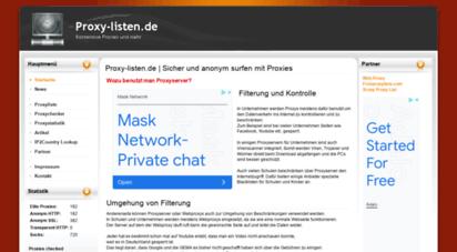 proxy-listen.de - proxy-listen.de  sicher und anonym surfen mit proxies