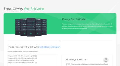 proxyforfrigate.com - free proxy for frigate