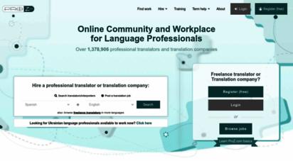 proz.com - freelance translators & translation companies  proz.com
