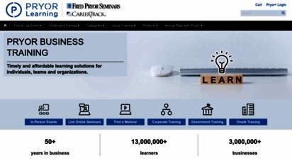 pryor.com - business training  seminars & online training  pryor learning solutions