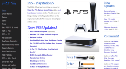 ps5playstation5.com - ps5 release date, concepts, price, specs, latest news