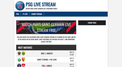 psgstream.net - watch psg vs nice ligue 1 match live streaming free