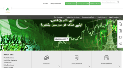 psx.com.pk - pakistan stock exchange limited -