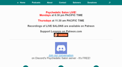 psychedelicsalon.com - psychedelic salon podcasts - quotes, comments, and audio files from lorenzo´s podcasts