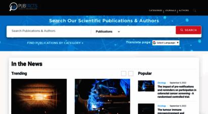 pubfacts.com - scientific publication information covering 20 million publications and authors  pubfacts