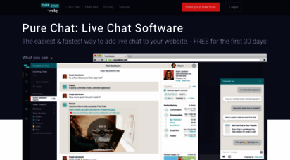 purechat.com - 100 free live chat software for businesses  pure chat
