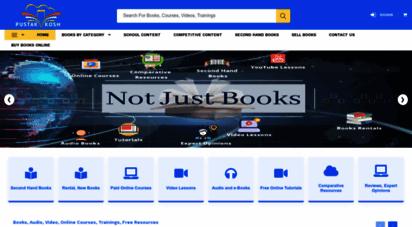 pustakkosh.com - bookstore online: rent,buy books,second hand books online @ pustakkosh.com