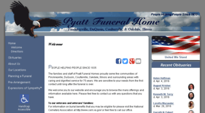 Welcome To Pyattfuneralhome Com Pyatt Funeral Home Pinckneyville