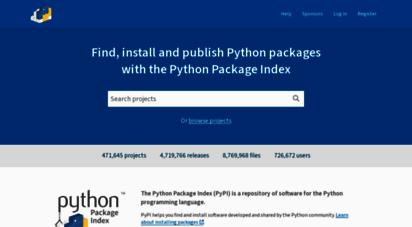 pypi.org - pypi · the python package index