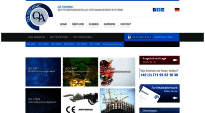 qatechnic.de - qa technic international technical inspection certification survey gmbh