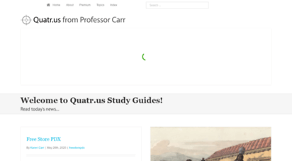 quatr.us - quatr.us study guides - simple history and science articles with a leftist take