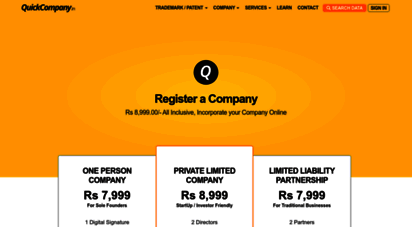 quickcompany.in - company registration, trademarks, patents, gst, business diligence