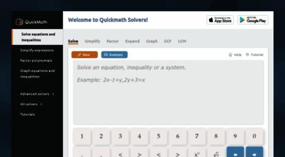 quickmath.com - step-by-step math problem solver