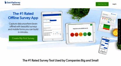 quicktapsurvey.com - in-person survey & data collection app  quicktapsurvey