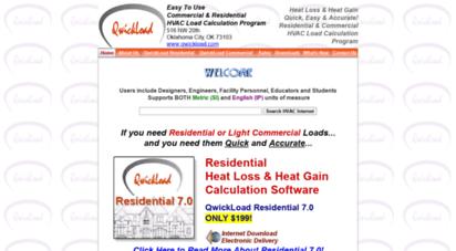 Welcome to Qwickload com - QwickLoad HVAC Heat Load