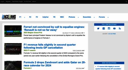 racefans.net - racefans: f1, indycar, wec, formula e and more motorsport news