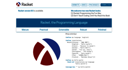 racket-lang.org - the racket language