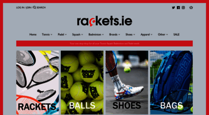 Welcome to Rackets.ie Rackets.ie For all your Tennis