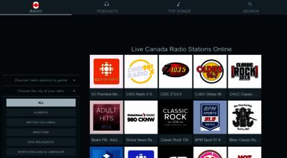 radio-canada-online.com - online radio canada - all radio stations