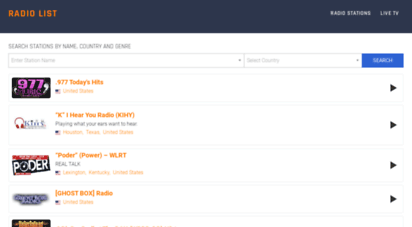 radiolist.net - european internet radio stations guide. listen live  radio list