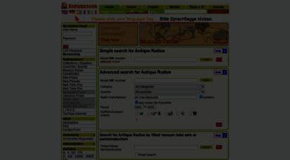 radiomuseum.org - antique radios, 314 349 antique radios listed