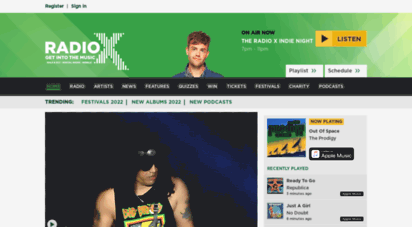 radiox.co.uk - radio x  get into the music