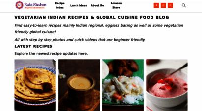 Welcome To Rakskitchen Net Raks Kitchen Indian Vegetarian Recipes