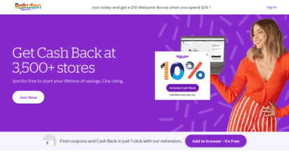 rakuten.com - shop. earn. get cash back.  rakuten