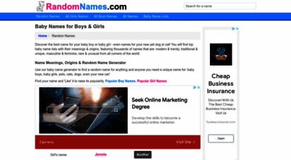 randomnames.com - random names - baby names - first name generator - randomnames.com