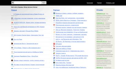 rang.com.ua - rang - веб-сайты украины: обзор, каталог, рейтинг, отзывы
