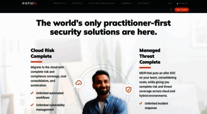 rapid7.com - accelerate security, vuln management, compliance