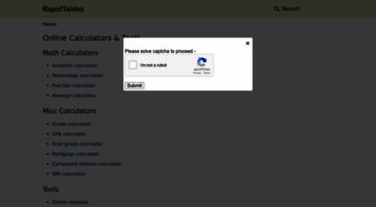 rapidtables.com - online calculators & tools - rapidtables.com