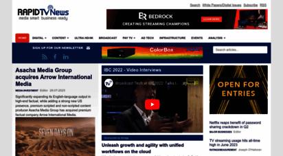 rapidtvnews.com - rapid tv news - broadcast technology daily