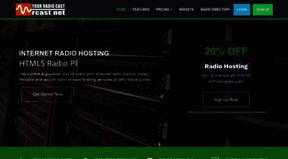 rcast.net - shoutcast radio hosting, internet radio, audio streaming, autodj radio servers - rcast.net