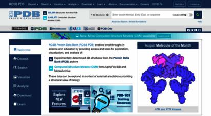rcsb.org - rcsb pdb: homepage