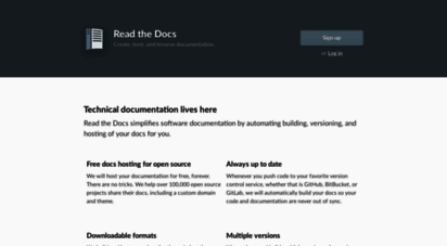readthedocs.org - home  read the docs