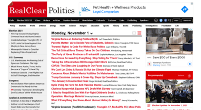 realclearpolitics.com - realclearpolitics - live opinion, news, anlysis, video and polls