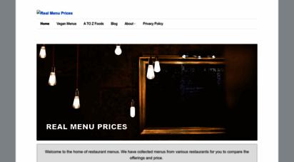 realmenuprices.com - real menu prices - compare your favorite food options