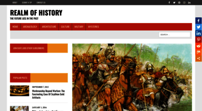 realmofhistory.com - realm of history  the future lies in the past