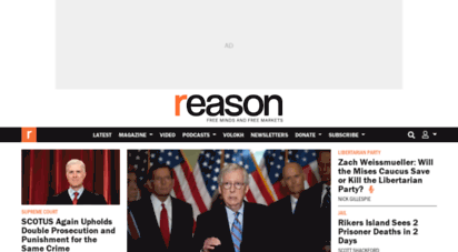 reason.com - reason.com - free minds and free markets. reason.com is the leading libertarian magazine and video website covering news, politics, culture, and more with reporting and anlysis.