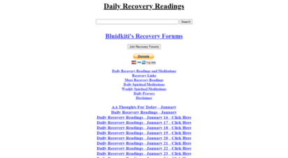 recoveryreadings.com - daily recovery readings and meditations