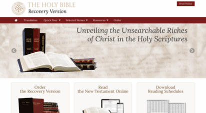 recoveryversion.bible - the holy bible recovery version
