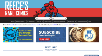 reececomics.com - reece´s rare comics  rare comics from 1939-present