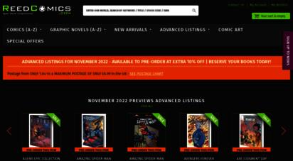 reedcomics.com - reed comics uk online comics and graphic novel shop