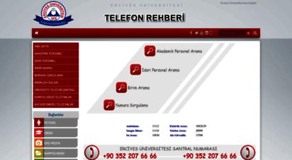 rehber.erciyes.edu.tr - erciyes üniversitesi telefon rehberi__________